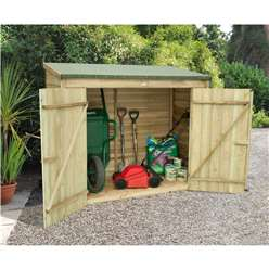 6ft x 3ft Pressure Treated Overlap Wall Store (184cm x 85cm)