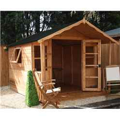 INSTALLED 10 x 8 Wessex Summerhouse (12mm Tongue and Groove Floor and Roof) - INCLUDES INSTALLATION