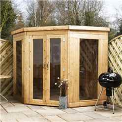 INSTALLED 7 x 7 Premier Solis Corner Summerhouse (12mm Tongue and Groove Floor and Roof) - INCLUDES INSTALLATION