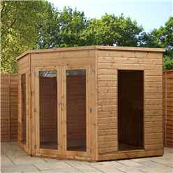 INSTALLED 8 x 8 Premier Solis Corner Summerhouse (12mm Tongue and Groove Floor and Roof) - INCLUDES INSTALLATION