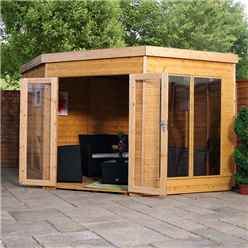 INSTALLED 9 x 9 Solis Corner Summerhouse (Tongue and Groove Floor and Roof) - INCLUDES INSTALLATION