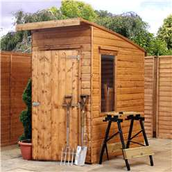 INSTALLED 6 x 4 Tongue and Groove Curved Roof Shed With Single Door + 2 Windows (12mm Tongue and Groove Floor and Roof) - INCLUDES INSTALLATION