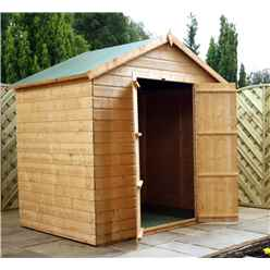 INSTALLED 5 x 7 Windowless Tongue and Groove Apex Shed With Double Doors (10mm Solid OSB Floor and Roof) - INCLUDES INSTALLATION