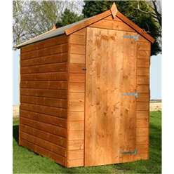 INSTALLED 6 x 4 Windowless Tongue and Groove Apex Shed With Single Door (10mm Solid Osb Floor) - INCLUDES INSTALLATION