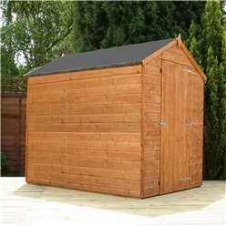 INSTALLED 7 x 5 Windowless Tongue and Groove Apex Shed With Single Door (10mm Solid Osb Floor) - INCLUDES INSTALLATION
