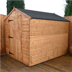 INSTALLED 8 x 6 Windowless Tongue and Groove Apex Shed With Large Single Door (solid 10mm Osb Floor) - INCLUDES INSTALLATION