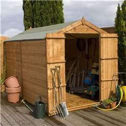 INSTALLED 10 x 6 Windowless Tongue and Groove Apex Shed With Double Doors (10mm Solid Osb Floor) - INCLUDES INSTALLATION