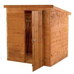INSTALLED 6 x 4 Windowless Tongue and Groove Pent Shed With Single Door (10mm Solid Osb Floor) - INCLUDES INSTALLATION