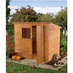 INSTALLED 6 x 4 Tongue and Groove Pent Shed With Single Door + 1 Window (10mm Solid OSB Floor) - INCLUDES INSTALLATION