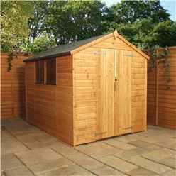 INSTALLED 8 x 8 Tongue and Groove Apex Shed With Double Door (Solid 10mm OSB Floor) - INCLUDES INSTALLATION