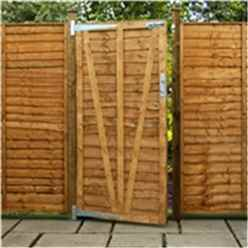 6ft High (1.829m) Lap Panel Overlap Single Gate 3ft Wide