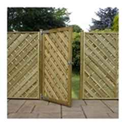 Pressure Treated Square Chevron 6ft 1800 Gate Flat Top Gate
