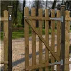 3FT High Palisade Round Top Gate 3ft Wide