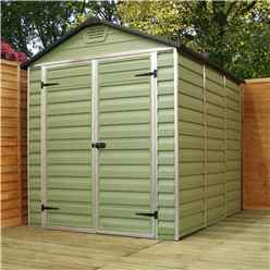 INSTALLED 5 x 6 Plastic Apex Shed (1.53m x 1.85m) *INCLUDES INSTALLATION*