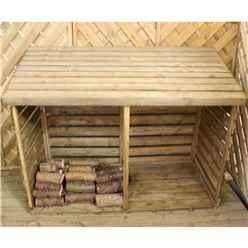"**PRE-ORDER NEW PRODUCT DUE END OF MARCH**INSTALLED 3 x 6 Pressure Treated Double Log Store (2'8"" x 6'4"") INCLUDES INSTALLATION"