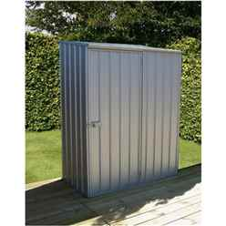 INSTALLED 5 x 3 Space Saver Zinc Metal Shed (1.52m x 0.78m) INCLUDES INSTALLATION