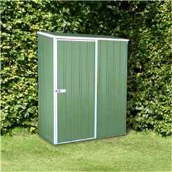 INSTALLED 5 x 3 Space Saver Pale Eucalyptus Metal Shed (1.52m x 0.78m) INCLUDES INSTALLATION