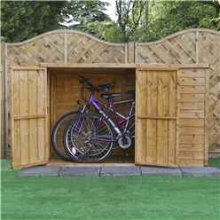 "INSTALLED 6 x 3 Overlap Pent Bike Store (6'5"" x 3'3"") INCLUDES INSTALLATION"