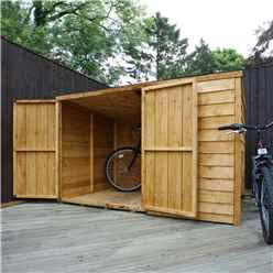 "4 x 6 Overlap Pent Bike Store (4'1"" x 6'5"")"