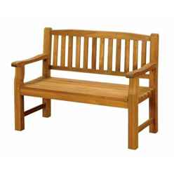2 Seater - 1 Piece - Turnbury Garden Bench - Free Next Working Day Delivery (Mon-Fri)