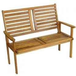 2 Seater - 1 Piece - Napoli Garden Bench - Free Next Working Day Delivery (Mon-Fri)