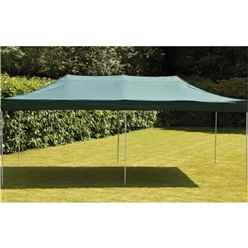 3x6m - Green Pop Up Steel Waterproof Gazebo - Free Next Working Day Delivery (Mon-Fri)