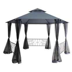 4m - Mercury Balinese Hexagonal Gazebo - Free Next Working Day Delivery (Mon-Fri)