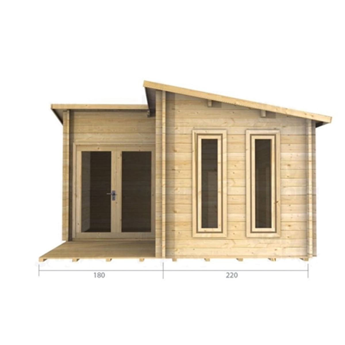 Marvelous photograph of Uppingham Log Cabins : 4m x 4m (13 x 13) Pent Style Log Cabin (2054  with #9A7231 color and 1200x1200 pixels