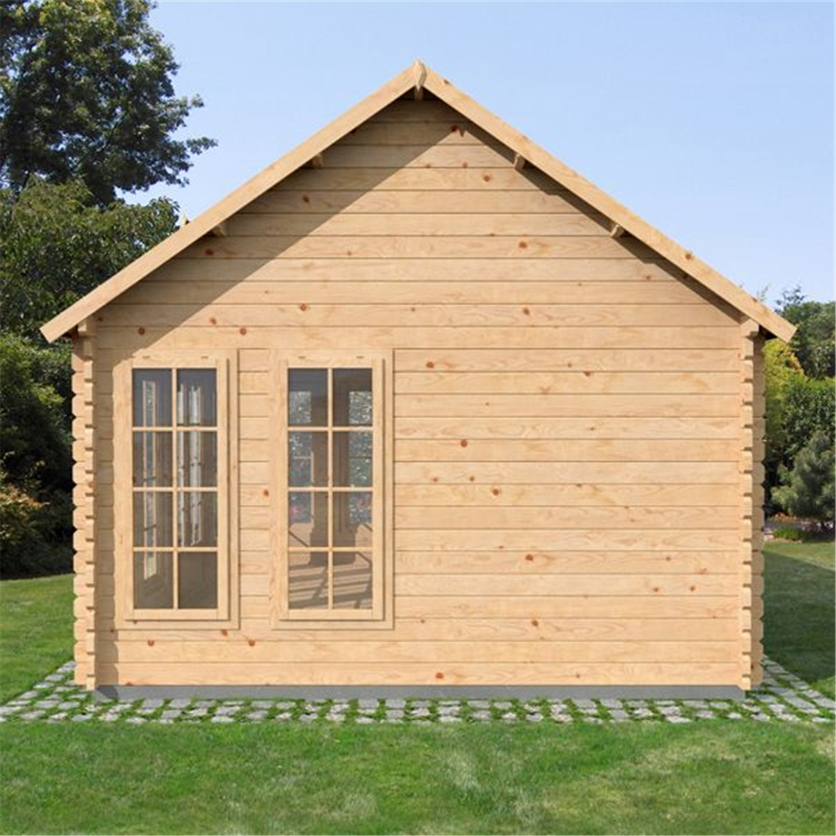 Superb img of Clock House Log Cabin (Double Glazing)   Free Floor & Felt & Safety  with #1D58AE color and 1200x1200 pixels