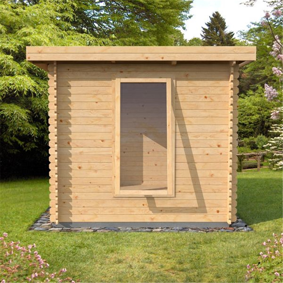 Warwick Log Cabins : 3m X 2.5m (9 X 8) Pent Log Cabin. Full resolution  pic, nominally Width 1200 Height 1200 pixels, pic with #A37128.