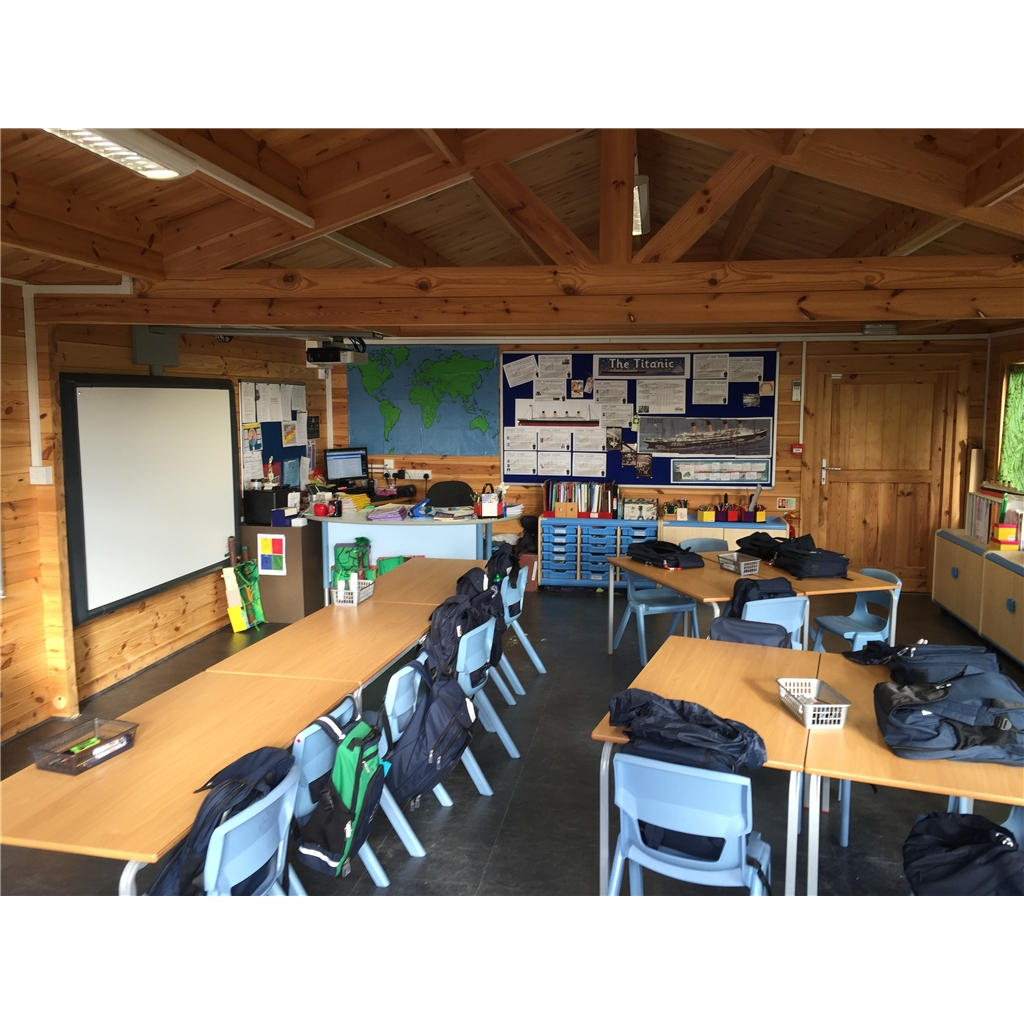 6m X 8m Premier Classroom Log Cabin Insulated 70mm