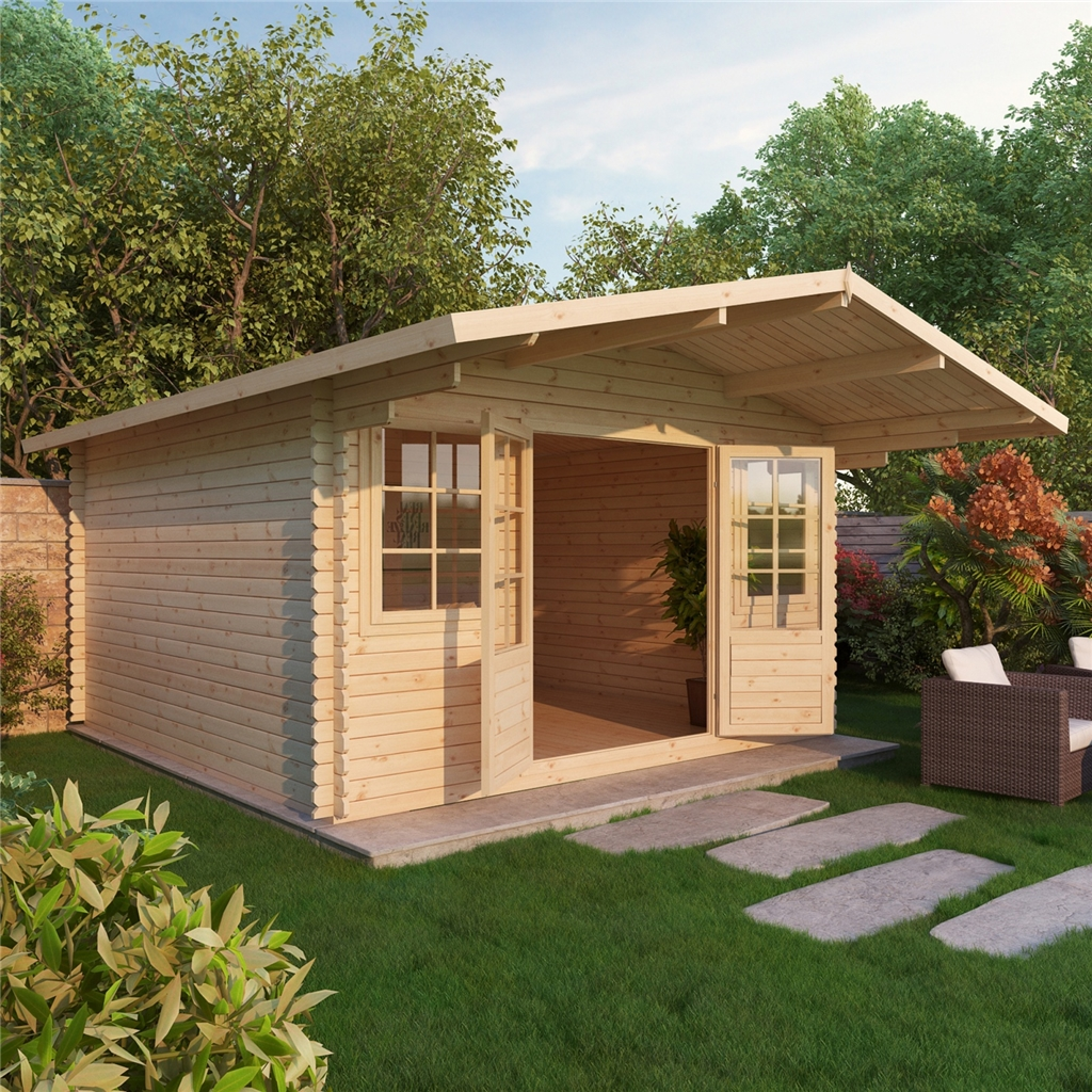 Marvelous photograph of Warwick Log Cabins : 4m x 4m Apex Log Cabin (Single Glazing)   Free  with #C48A07 color and 1024x1024 pixels