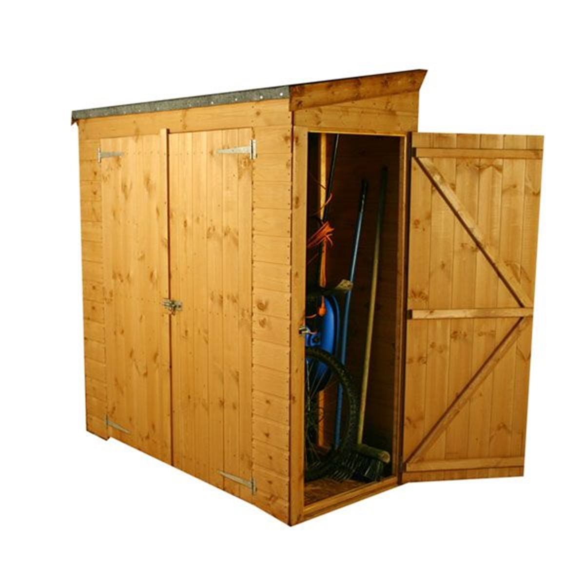 6 X 2 6 Tongue And Groove Pent Shed With Double Doors And