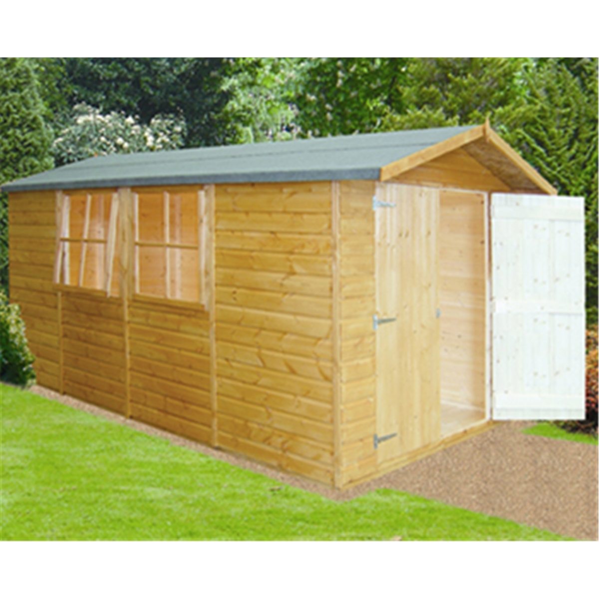 13 X 7 Tongue And Groove Corner Wooden Garden Shed Workshop 12mm Tongue And Groove Floor