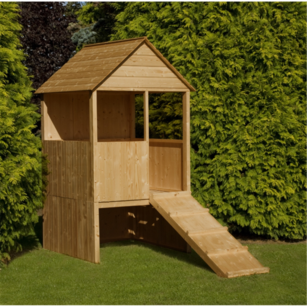 4 X 4 Raised Lookout Playhouse Shedsfirst