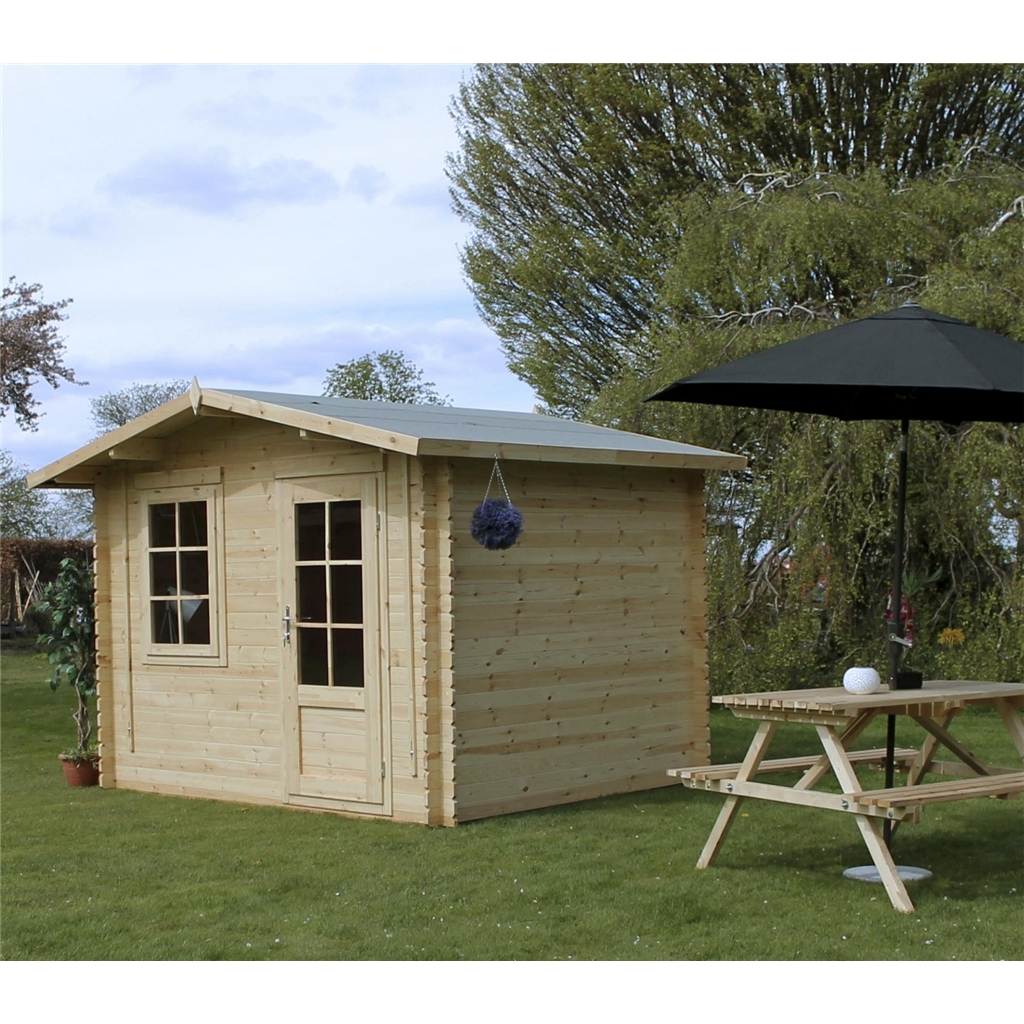Superb img of Warwick Log Cabins : 3m x 2.4m Apex Log Cabin (Double Glazing)   Free  with #1F56AC color and 1024x1024 pixels