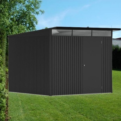 8 X 10 Extra Large Premium Heavy Duty Dark Grey Metal Shed
