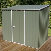 WARWICK - 8ft x 5ft Space Saver Pale Eucalyptus Metal Shed (2.26m x 1.52m) *FREE 48HR DELIVERY