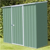 WARWICK - 8ft x 3ft Space Saver Pale Eucalyptus Metal Shed (2.26m x 0.78m) *FREE 48HR DELIVERY