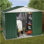 BRISTOL - 8ft x 6ft Value Metal Shed (2.61m x 1.84m) + FREE 24HR DELIVERY