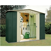 Madrid - 8FT x 3FT PREMIER EIGHT METAL SHED (2.45m x 0.92m)