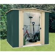 Madrid - 6FT x 6FT PREMIER SIX METAL SHED (1.83m x 1.85m)