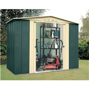 Madrid - 8FT x 6FT PREMIER EIGHT METAL SHED (2.45m x 1.85m)