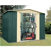 Madrid - 8FT x 9FT PREMIER EIGHT METAL SHED (2.45m x 2.78m)