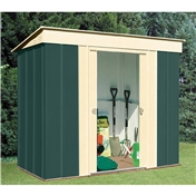Madrid - 8FT x 4FT PREMIER PENT METAL SHED (2.46m x 1.23m)