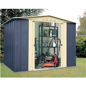 Madrid - 8FT x 6FT PREMIER BLUE METAL SHED (2.45m x 1.85m)