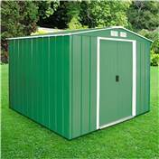 Madrid - 8FT x 8FT VALUE METAL SHED (2.61m x 2.42m)