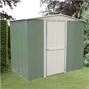 Madrid - MADRID HINGED DOOR METAL SHED 8FT X 6FT (2.45m x 1.85m)