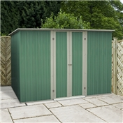 WARWICK - Pre-Order - Estimated arrival 1st July - 8ft x 4ft Value Pent Shed (2.41m x 1.28m) *FREE 48HR DELIVERY  + Free Anchor Kit