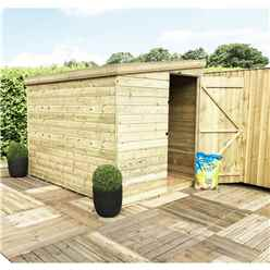 INSTALLED 7 x 7 Windowless Pressure Treated Tongue And Groove Pent Shed With Side Door (please Select Left Or Right Door)
